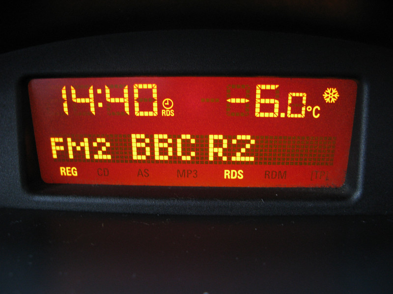 This cold being -6deg chilly