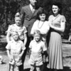 L to R, Front to Rear: Kenneth and Keith, Marvin, Mary and Betty, Armand Aeschliman