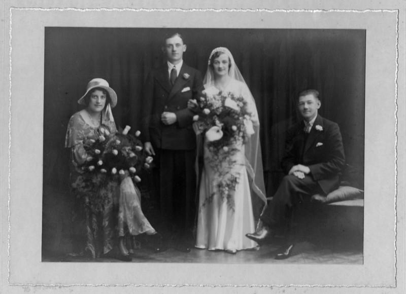 Uncle Hughie and Aunt Margaret. Hugh was Grandmas brother.