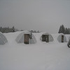 [12/22] Greenhouses begin to sink into the snow!