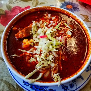 Pozole on a cold day.