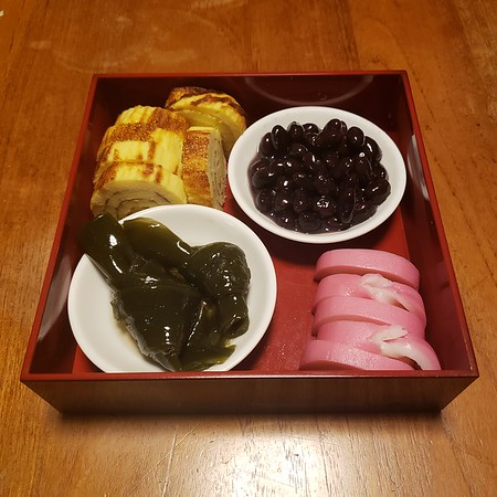 Chiyoko's home made new year Osechi Ryori.