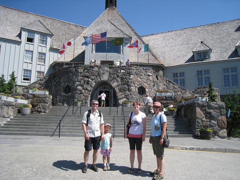 Tim, Maddy, Mirranda & Jane at Timberline Lodge
