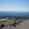 Looking back down to Timberline Lodge