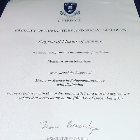 Anwen gets her Masters Degree