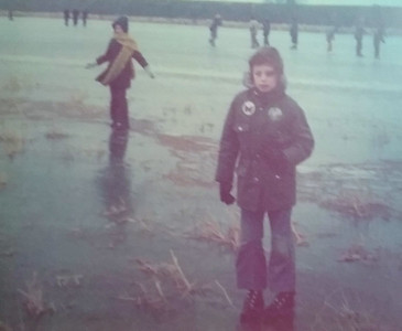 Flag Fen Ice skating 1975