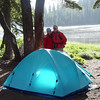 "Camping at <A HREF=""http://guy.smugmug.com/Outdoors-Hikes-Climbs-etc/Hiking/Mt-Jefferson-Wilderness-July/1726724_j7Fuh#85252298_jR5z3"" target=""_blank"">Briettenbush Lake</A> in July 2006. Ready to take on Jefferson Ridge."