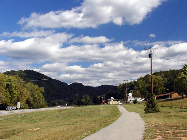 View on the Townsend Bike Path toward the Smokies<br /> The path is about 8 miles long total and the backroad adds a mile or two more.<br /> Great place to ride and always beautiful views.