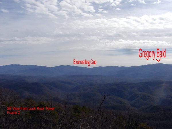 Southeast view from Look Rock Platform Pan right<br /> toward the west