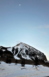 Moon Over Crested Butte