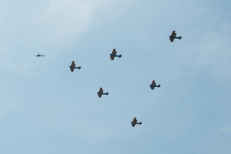 Flight of 6 Boeing PT-17 Kaydets