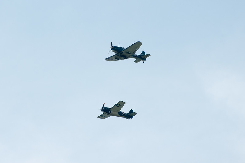 Heroes of Midway, the Dauntless (top) and F4F Wildat (bottom).