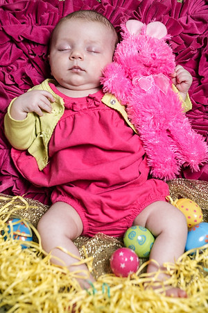 Arya Baby Toes and Easter Bunnies