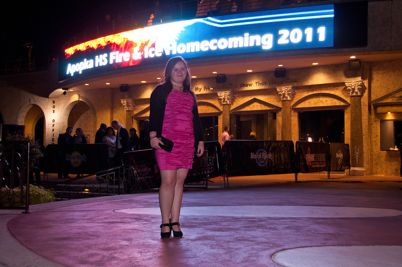 Tiffany at the 2011 Apopka High Homecoming Dance at Hard Rock Live, Universal Studios Orlando, FL on 10/22/2011