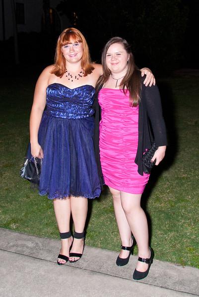 Ashleign & Tiffany at the 2011 Apopka High Homecoming Dance at Hard Rock Live, Universal Studios Orlando, FL on 10/22/2011