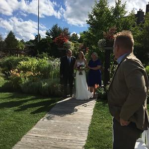 Ashley Flint's wedding