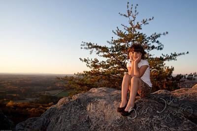 on top of Sawnee Mountain in Cumming, GA