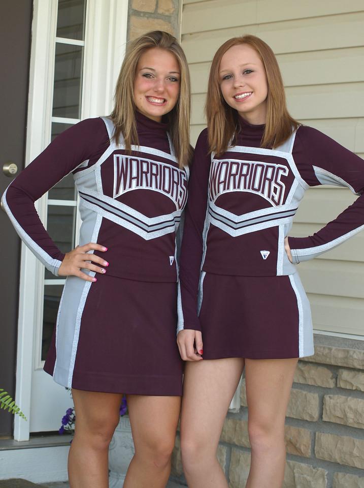 Ashtyn Pharis (left) with Friend -- Cheerleaders Supreme!!