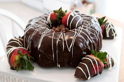 Paris' Triple Chocolate Chip Cake.
