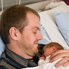 Netten efter fødslen fik faderen lov at sove på hospitalet også.