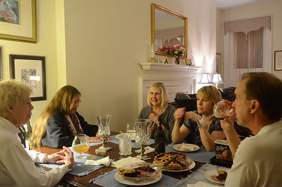 Pies were delicious!. From left, Joan, Juley, Mary Ann, Trish, and Jim.