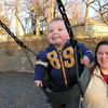 I was able to use my little camera to time these shots of Max and Mommy swinging at the park.