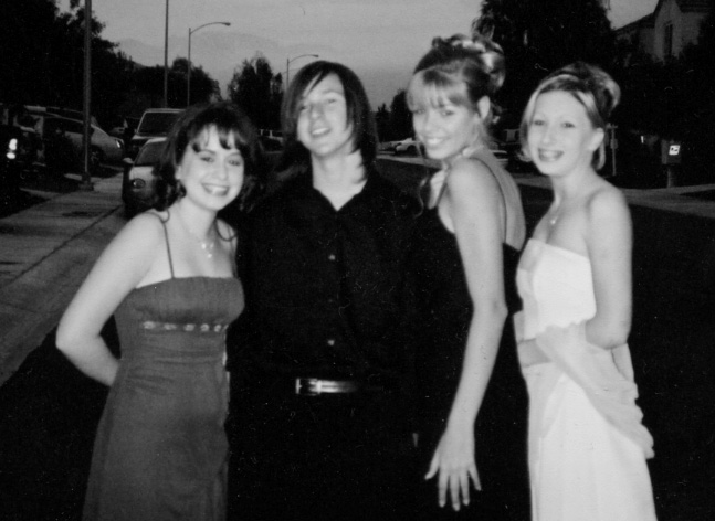 Tommy and friends going to Homecoming dance, 2004.
