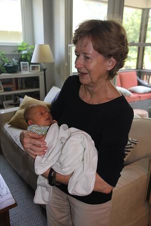 Mary Ann holding grandson, Carter Flinn Schwalb    6/2016