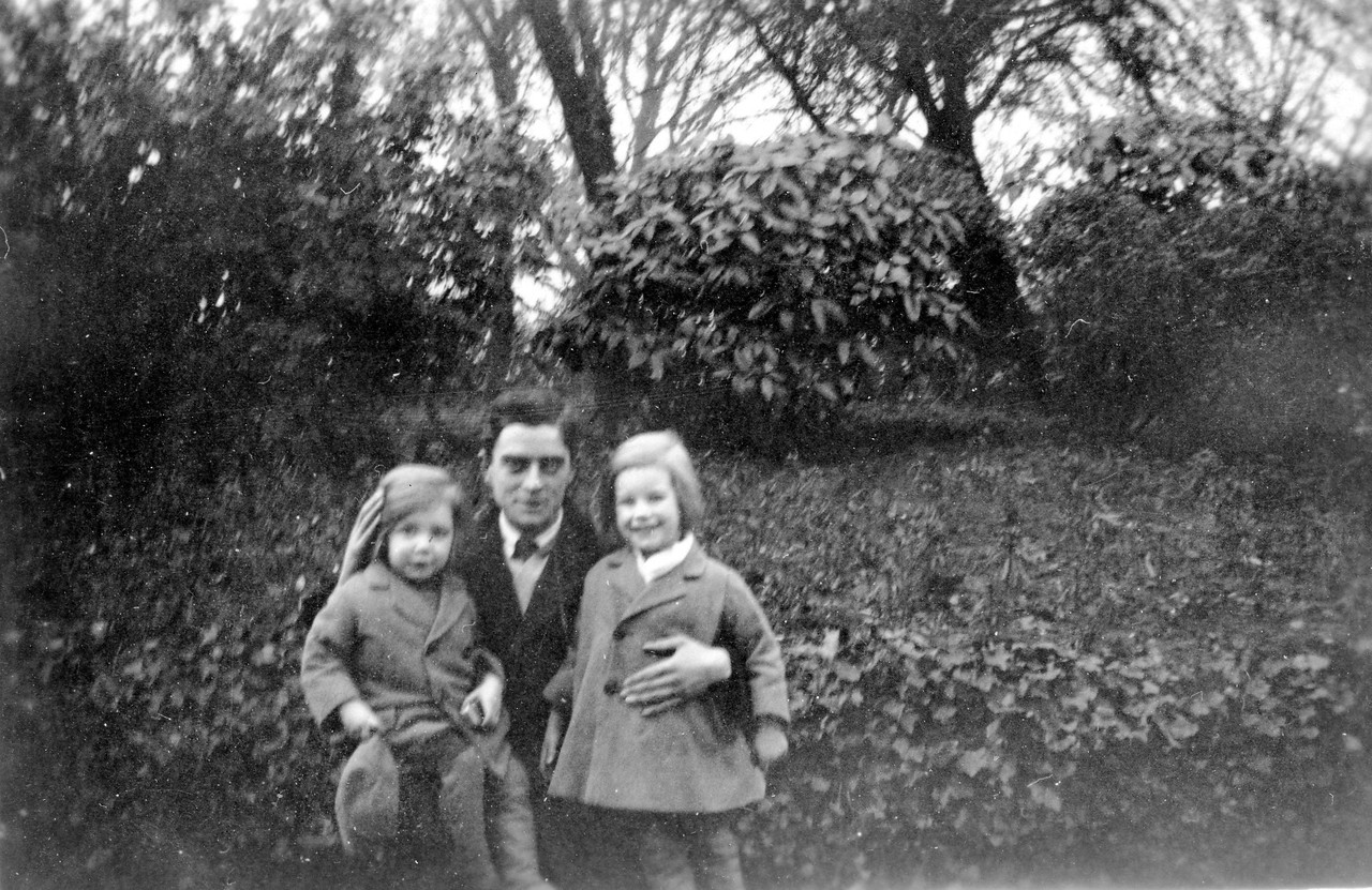 In Bishops Park which I believe is in Fulham. Based on the next photo I think the children are Uncle Frank & Uncle John (despite the long hair), 1927
