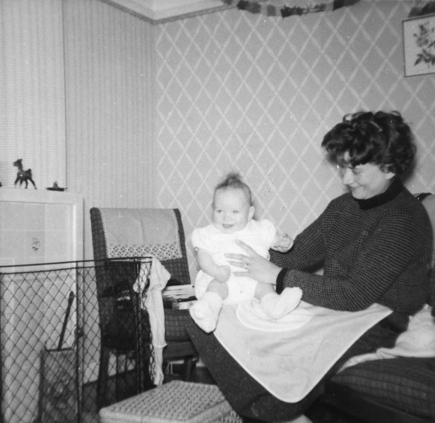 John Kavanagh & Mum (Daphne) Christmas 1962