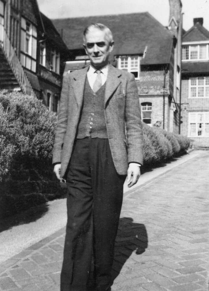 Grandad (Frank Wright) at convalescent home St Leonards on Sea