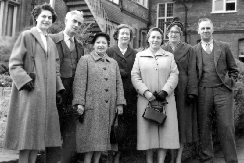 Audrey, Grandad (Frank Wright), Nan (Emily Wright), Daphne + friends at convalescent home St Leonards on Sea