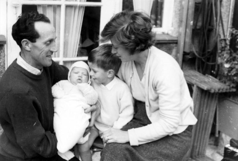 Dad (Peter Kavanagh), John, Philip & Mum (Daphne)