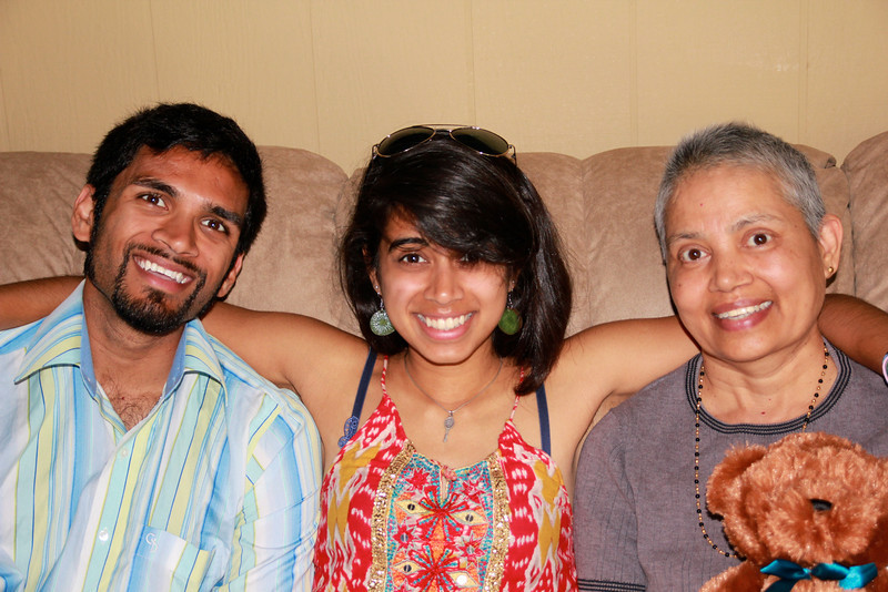 Vinoda with Pravin and Vidya