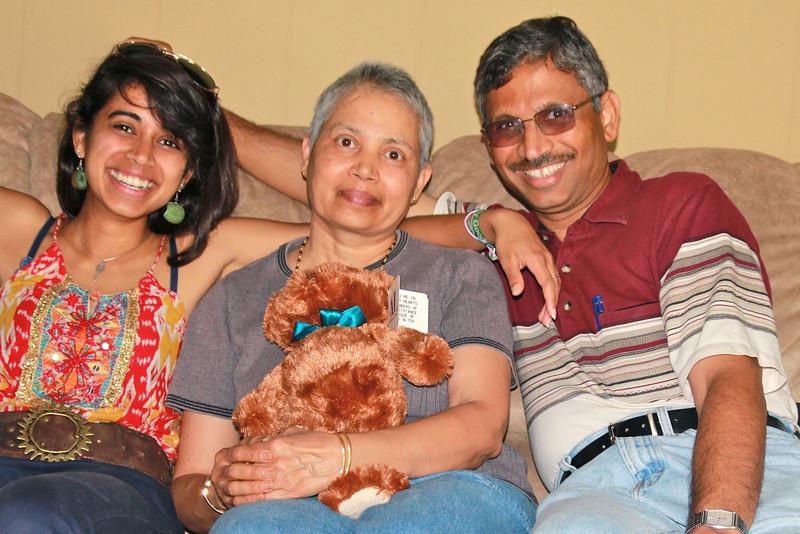 Vinoda and Prasad with Vidya
