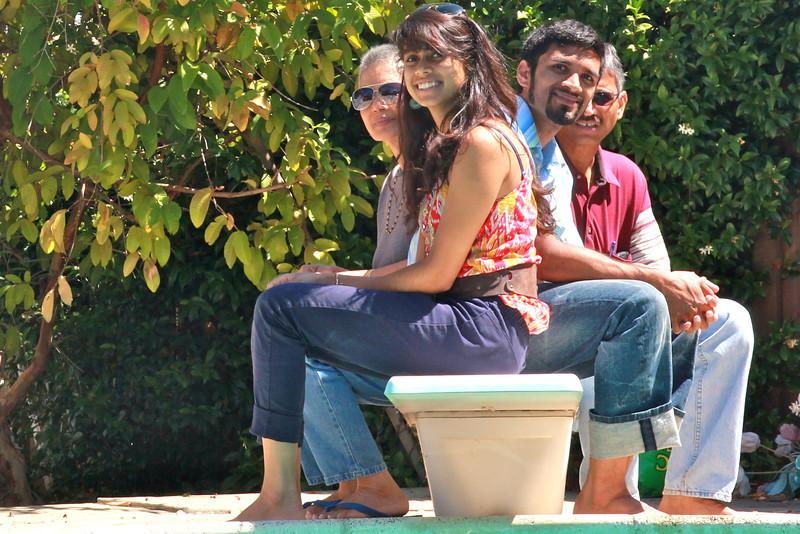 Vidya's creative photo of the family