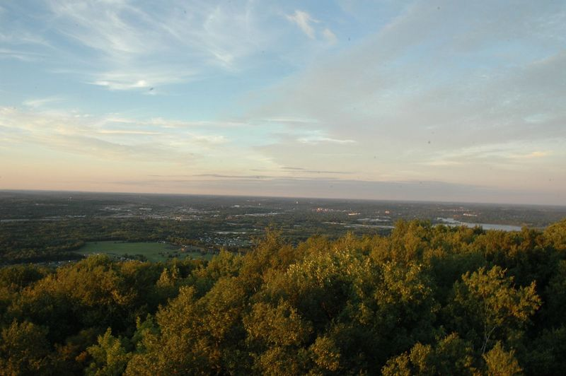 Waiting for sunset, another shot of Wausau from the lookout tower on Rib Mountain.
