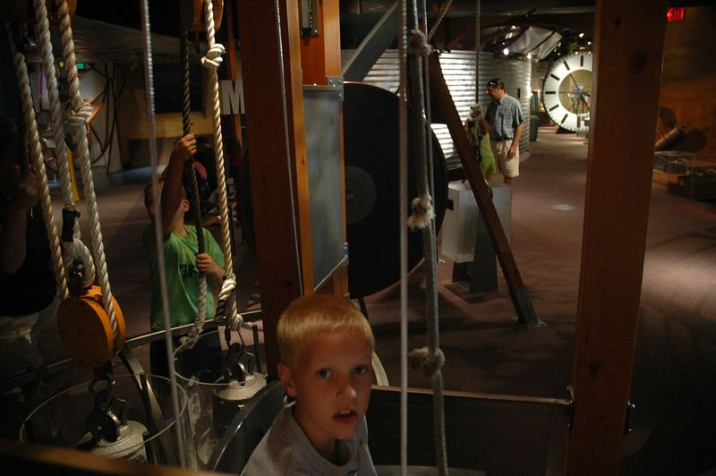 Iain at Discovery World Museum.