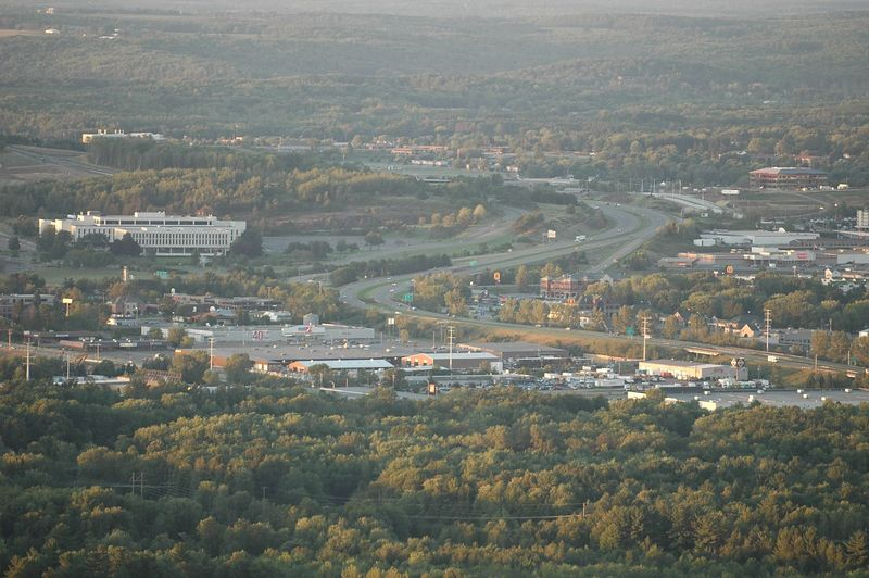 Wausau from Rib Mountain via a 200mm lens.