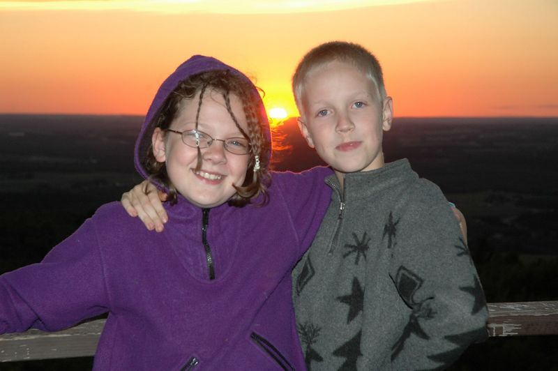 Rowan and Iain at sunset.