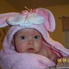 Don't I look cute in my bunny towel?