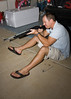 Jeremy shoots the BB Gun at night.  That's what we do.