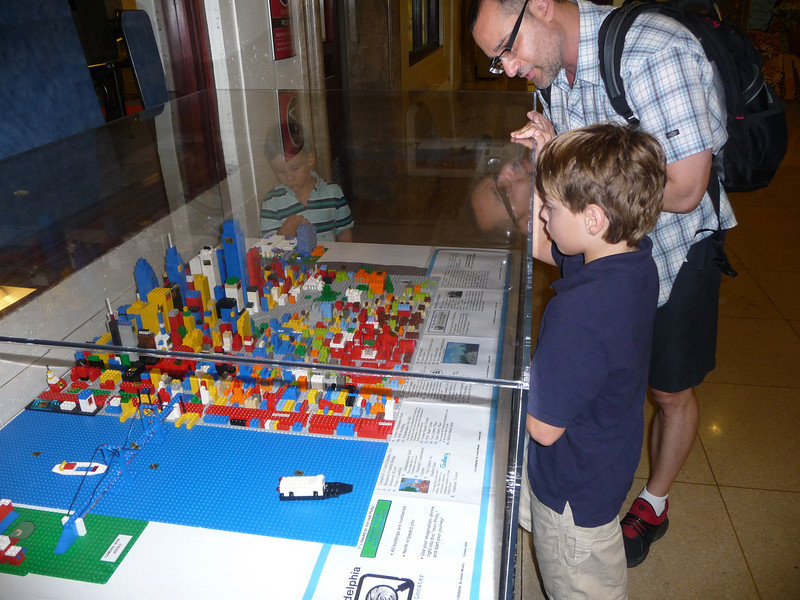 Sasha, our Lego nut, couldn't get over the Lego Philly built by a kid in his teens!