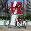 We had to see Philly's famous sights - here, the famous Love sculpture.