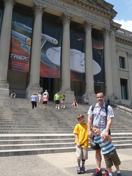 We took a rambling, week's vacation that started in Philadelphia, where we went to the Franklin Science Museum for the Star Trek Exhibition.