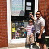 We went by a local bookstore that - totally coincidentally, we swear - had Papa's book in the window!