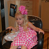 Hallie loved watching the girls get there hair done for the wedding.