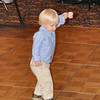 We don't know where he picked up his dance moves, but this was his move as he would bounce around in a circle with one arm up to the music!!!