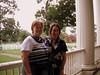Patricia and Rachel on the back porch of the Hermitage house.  This is where Andrew Jackson's family could sit and keep an eye on the slaves working in the fields.