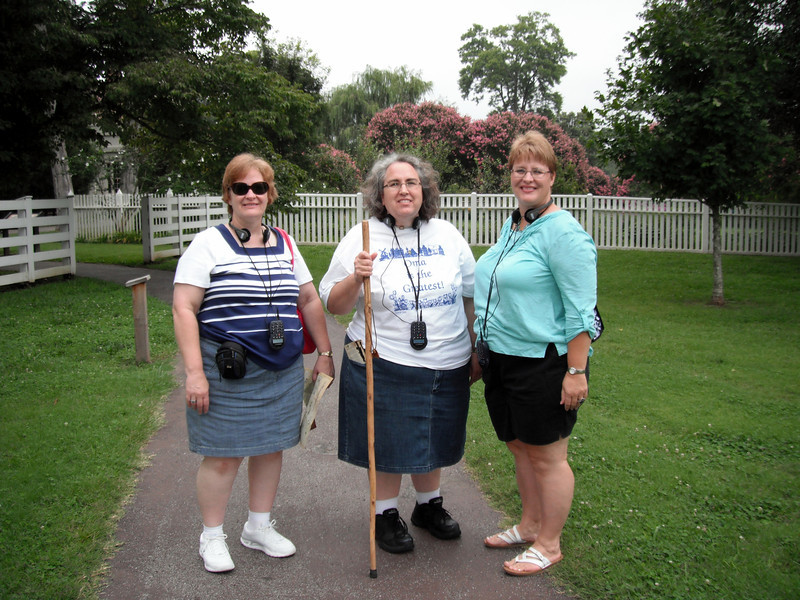 "We have arrived at Andrew Jackson's historic home, ""The Hermitage,"" in Nashville, Tennessee.  Patricia, Katrina, and Colleen."